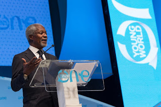 Kofi Annan addressing the delegates