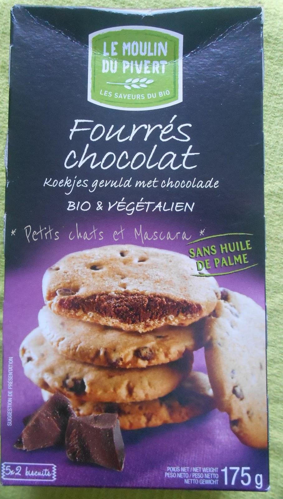 moulin du pivert fourrés chocolat