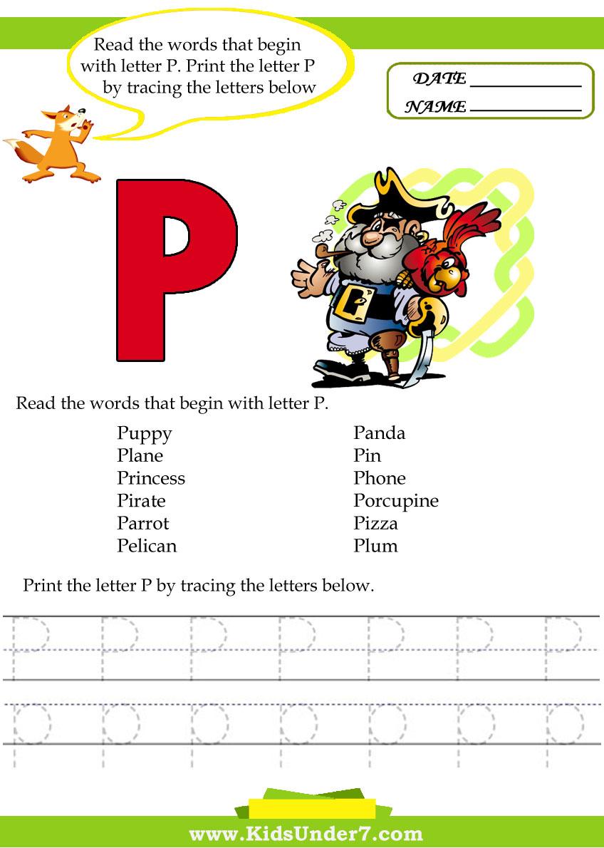 Kids Under 7 Alphabet Worksheets Trace And Print Letter S Together ...