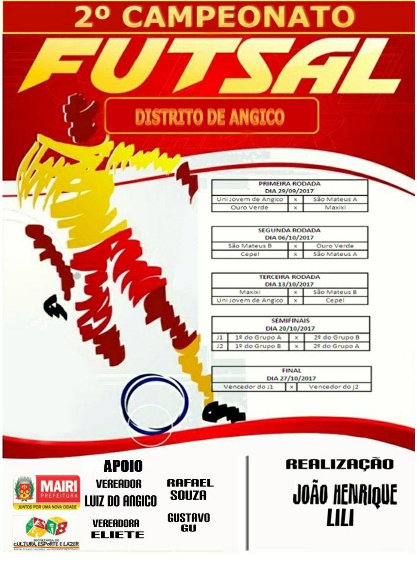 Segundo Campeonato de Futsal de Angico