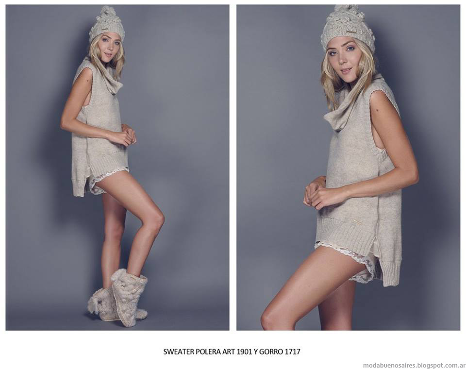 Ropa tejida invierno 2015 moda mujer Agostina Bianchi.
