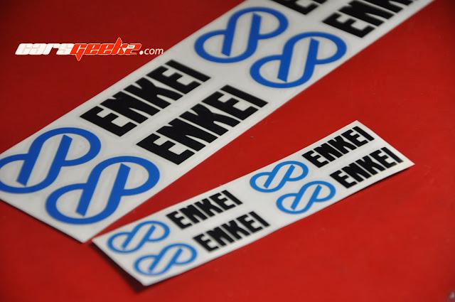 Enkei TARMAC EVO Sticker vinyl