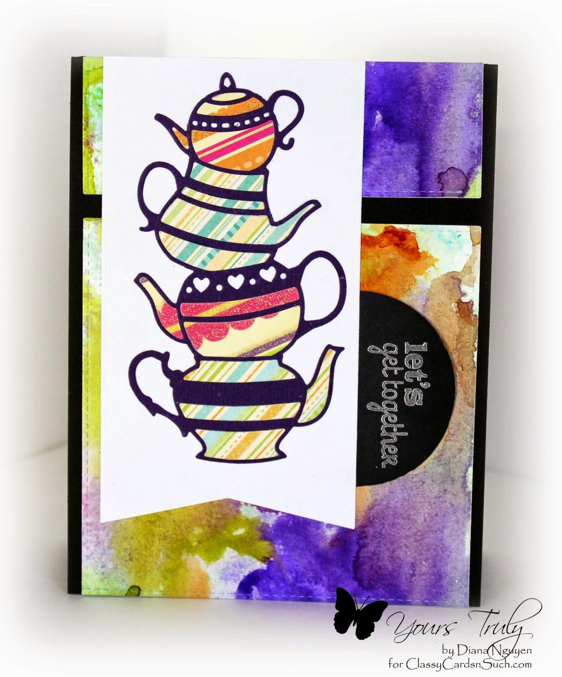 Diana Nguyen, Poppystamps, Verve, teapot, stack