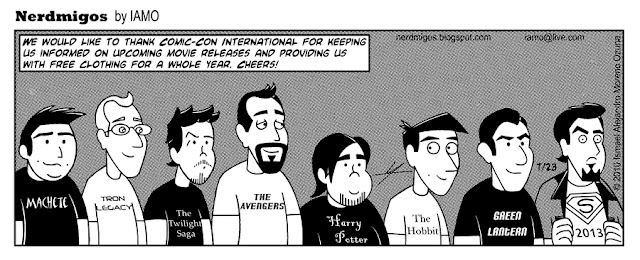 Nerdmigos Comic-Con Free T-shirts by IAMO