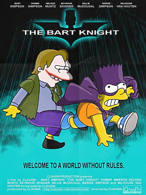 posters cinema simpsons - The Dark Knight