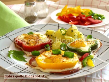 Paprikové volské oká - recepty