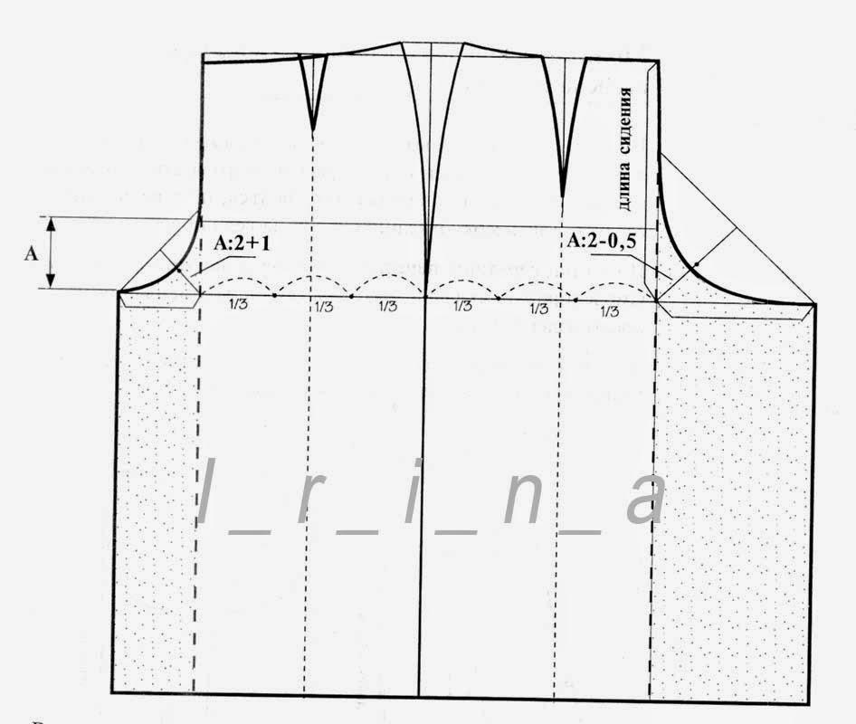 Как сшить юбку-брюки выкройка 36