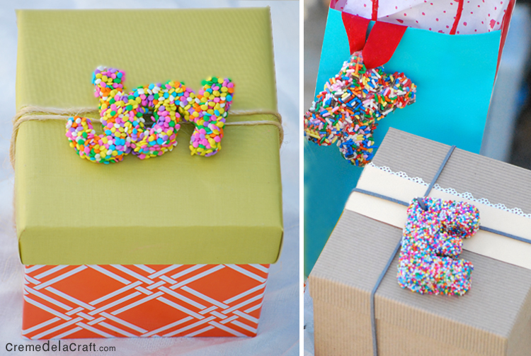 Diy originales letras para decorar tus regalos for Decorar regalos