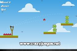 Jugar Angry Birds Bad Pigs - www.crazyjuegos.net