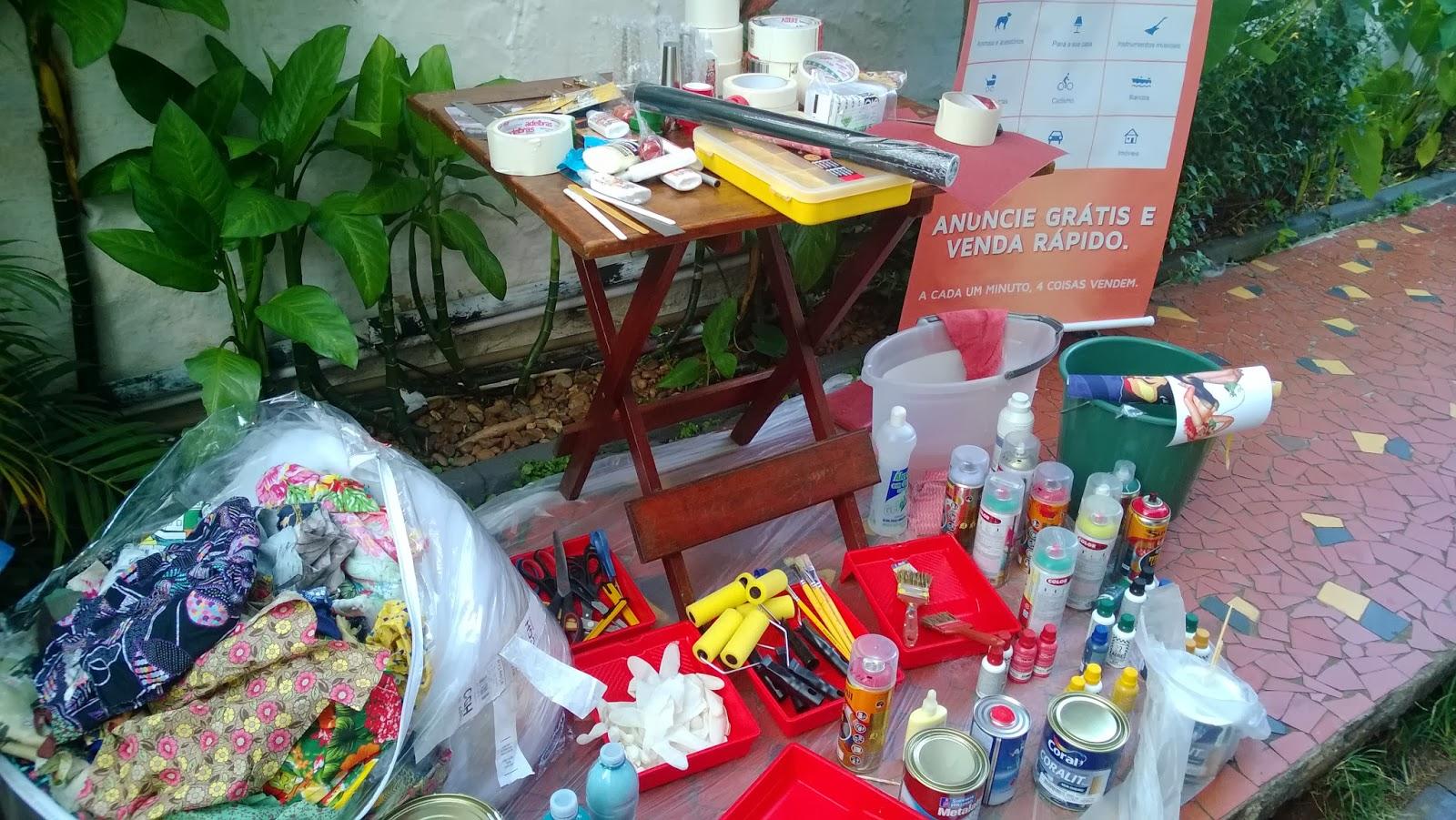 materiais da oficina Mão na Massa - blog Casa de Colorir