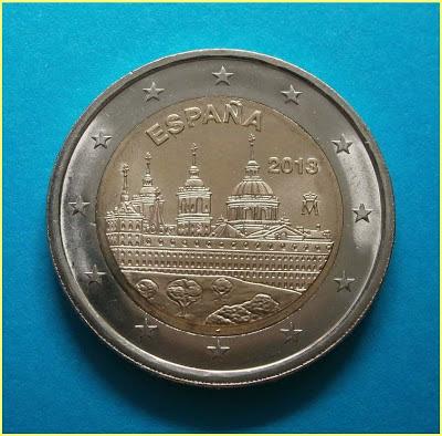 2 Euros España 2013 Escorial