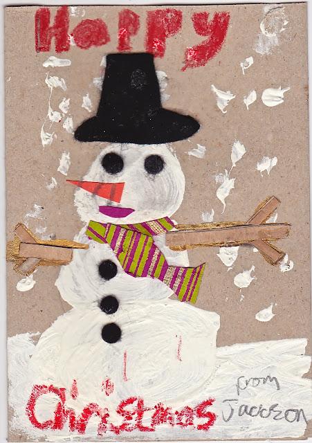 Handmade christmas cards the snowman mrs fox 39 s life for Handmade snowman christmas cards