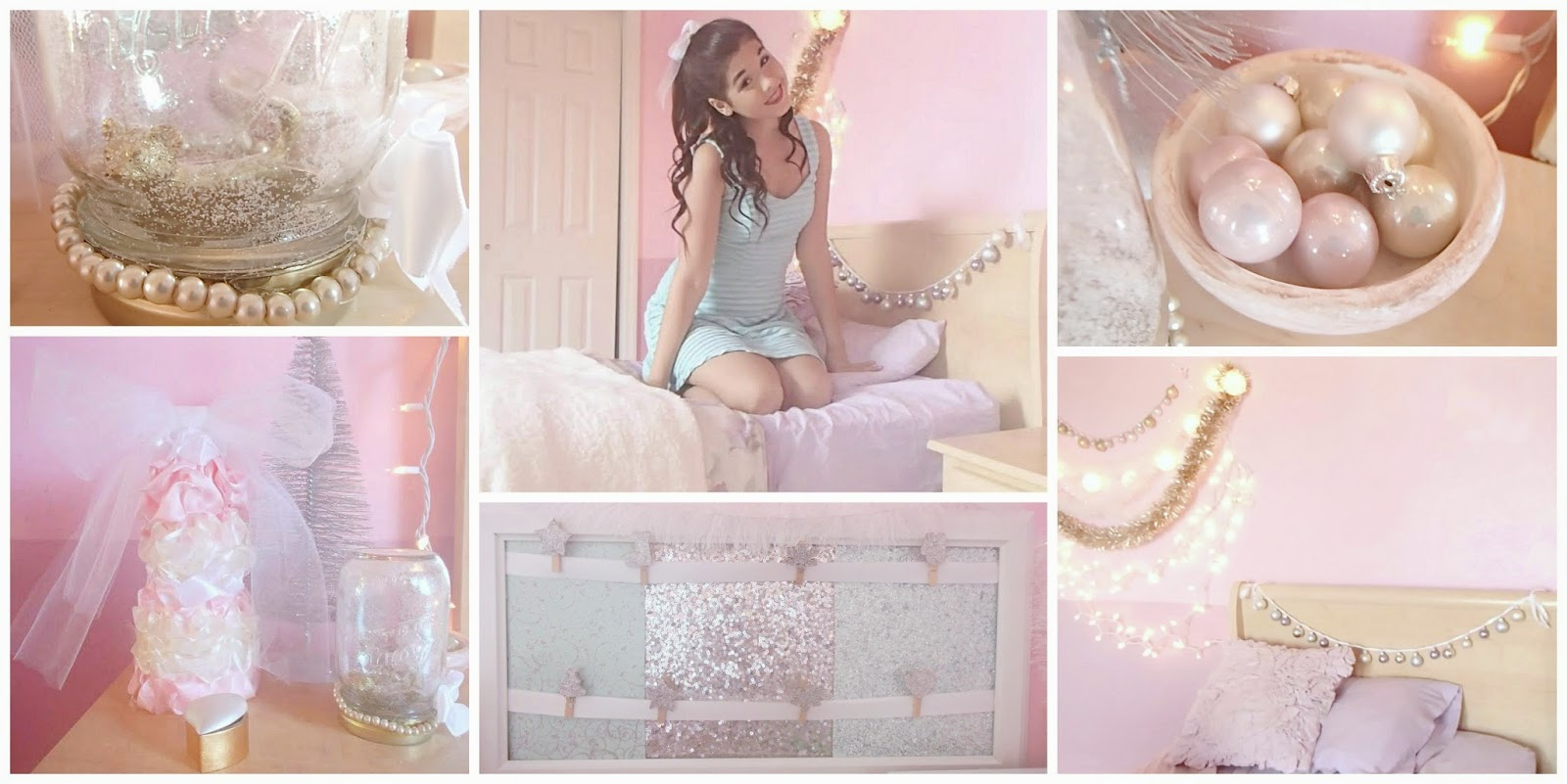 Beautyybychloe diy holiday room decor a girly twist for Girly bedroom decor