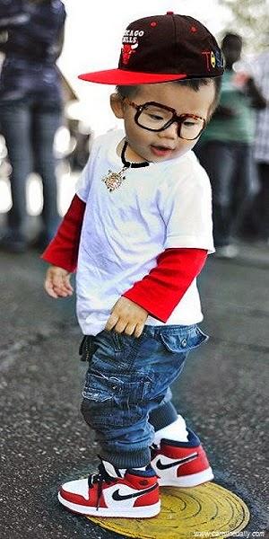 Image bébé élégant swag