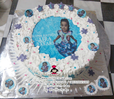 Edible Foto Frozen Birthday Cake