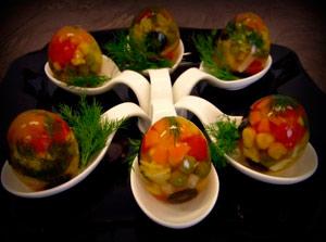 Заливные яйца в скорлупе