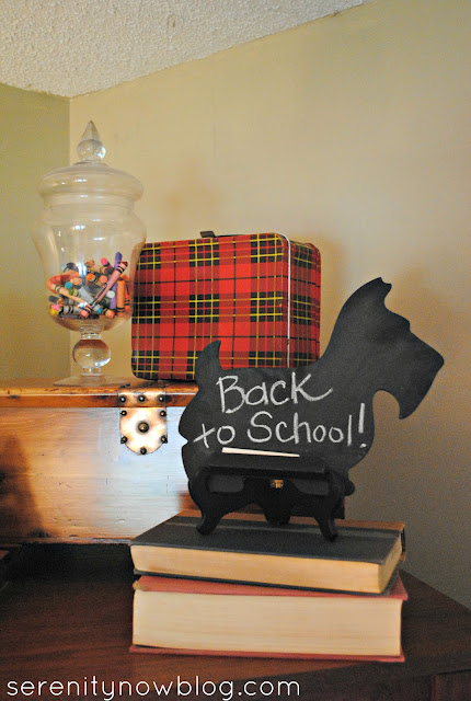 Back to School Fall Decorations, from Serenity Now
