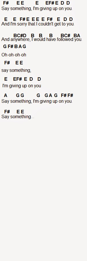 Flute Sheet Music Say Something