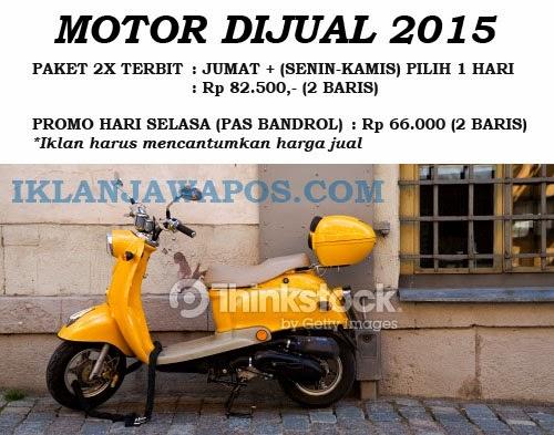Iklan Baris Jawa Pos Murah 2015 Paket Motor Dijual