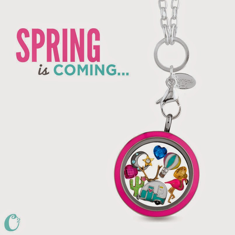 Spring charms from Origami Owl -- lissa.origamiowl.com