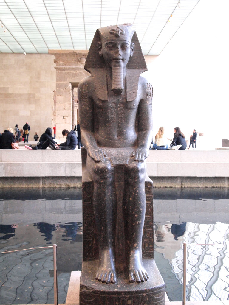 the colossal statue of a pharaoh