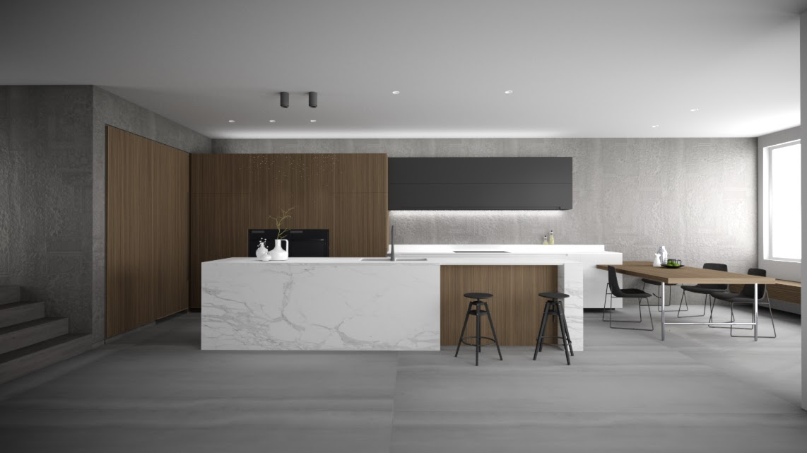3d cad cgi images created for the client prior to construction  minosa  amazing kitchen design leaves us with house envy  rh   minosadesign com