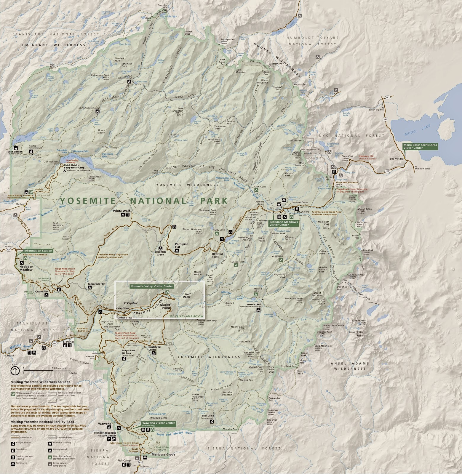 image from http www nps gov yose planyourvisit upload map calif simple gif