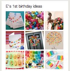 pinterest board first birthday