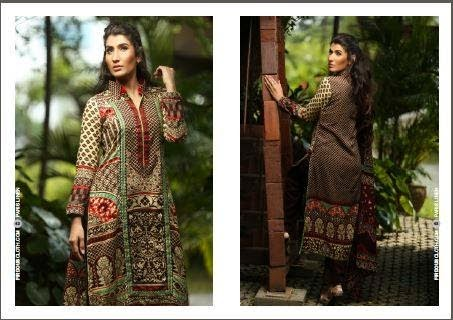 Firdous Linen Winter Collection 2014