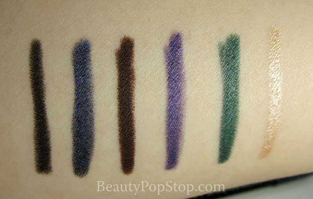 make up for ever ever lasting liners gift set swatches and review