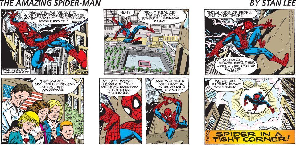 Spider man comic strip