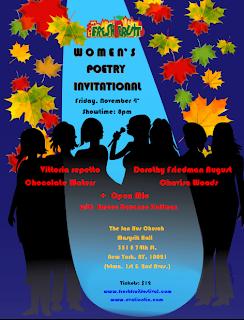 Fresh Fruit Harvest Festival Women's Poetry Invitation Poster designed by Su Polo