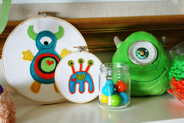 monster embroidery hoop art by hilary frazier on etsy