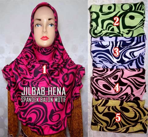 Jilbab spandek balon motif cantik yang simple dan cantik