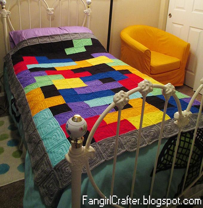 Crochet Tetris Afghan