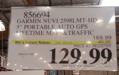 Deal for the Garmin Nuvi 2598LMT hd gps at Costco