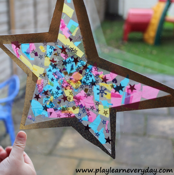 glass window decorations design we then used some sticky tack to hang it up on the window decorate our house for new years eve but love so much may just keep star shaped stained glass window decoration play and learn every day