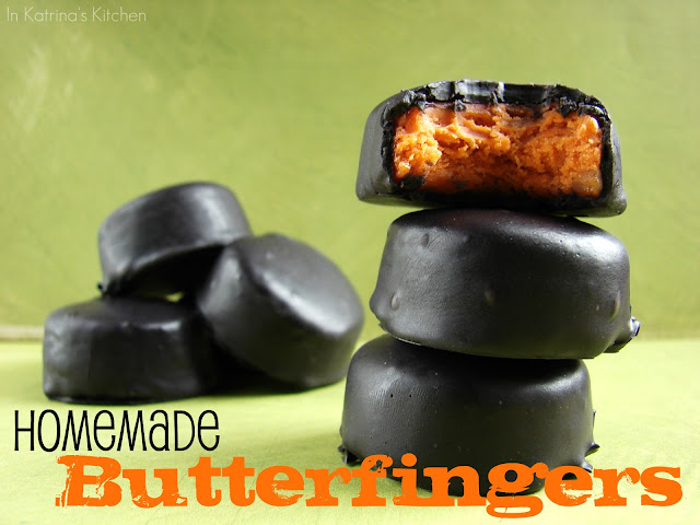 Homemade Butterfinger Chocolates from @katrinaskitchen