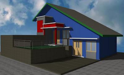 model model rumah minimalis type 80 lereng