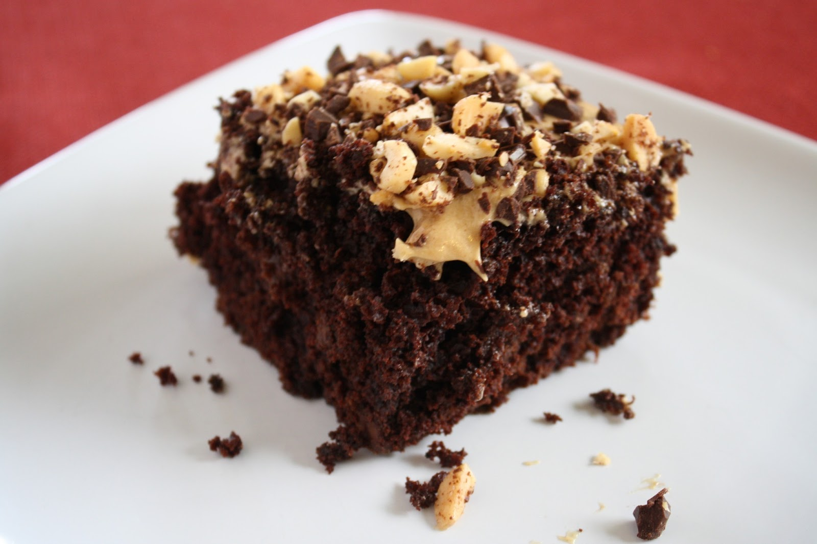Lactose-Free Girl: Chocolate-Peanut Butter Fun Cake
