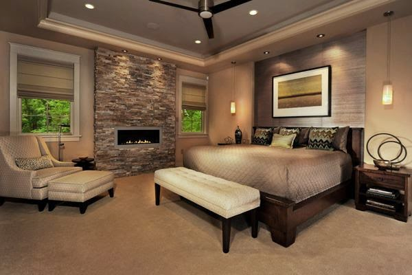 Spectacular and cozy bedrooms with fireplaces