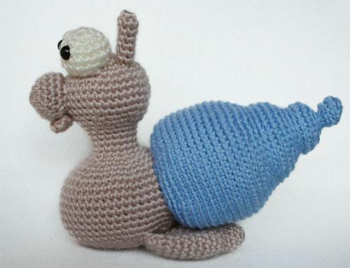 Corpo lumaca amigurumi