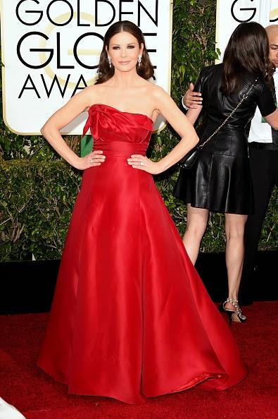 Catherine Zeta Jones en los Globos de Oro 2015