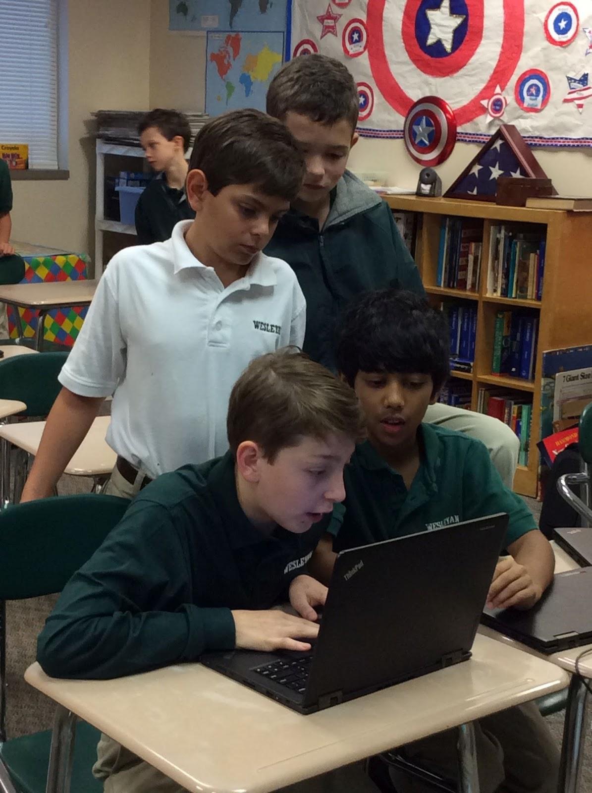 Dunwoody School Daze: Wesleyan School Students Take Part in HTML ...