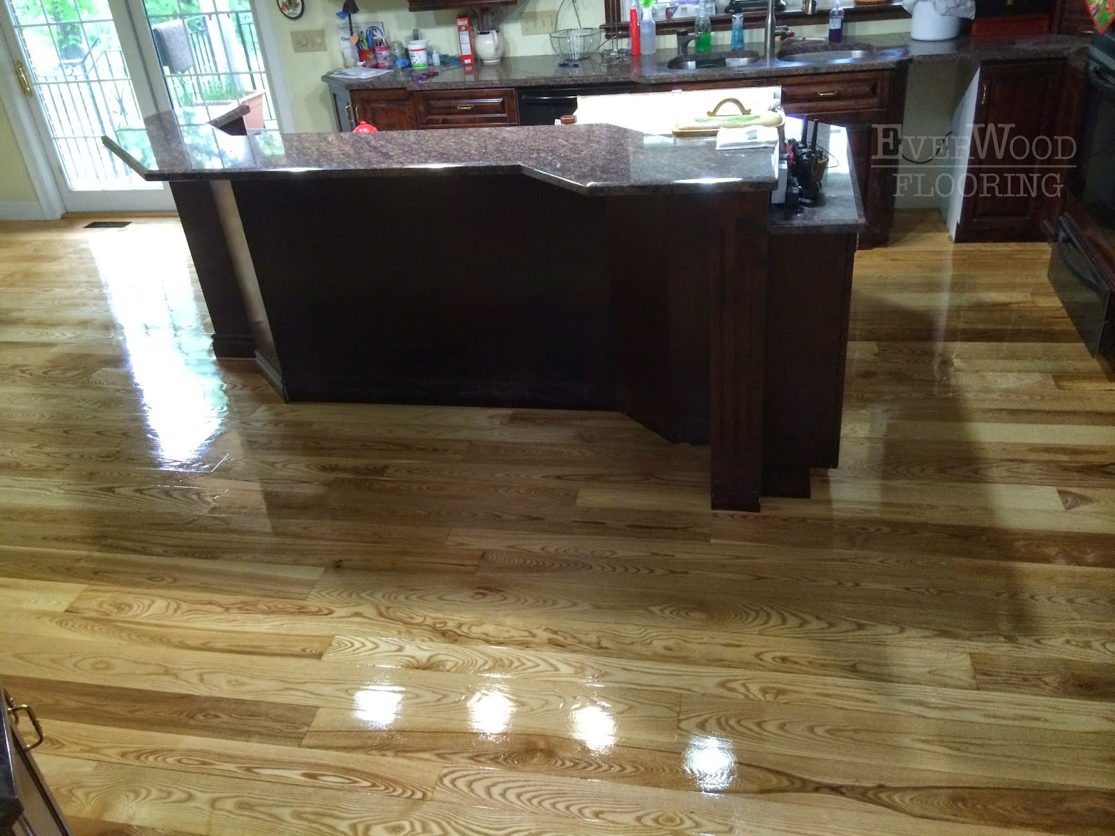 Everwood flooring project profiles solid ash flooring for Hardwood floors too shiny