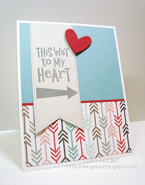 This Way to My Heart card-designed by Lori Tecler/Inking Aloud-stamps from My Favorite Things