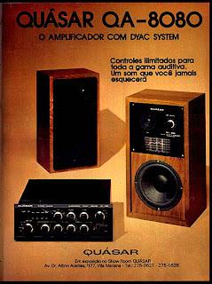 propaganda amplificador de som Quásar - 1974.anos 70; propaganda na década de 70; Brazil in the 70s, história anos 70; Oswaldo Hernandez;