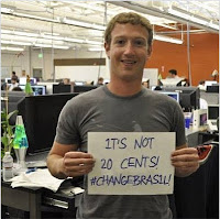 Mark Zuckerberg apoia protestos no Brasil