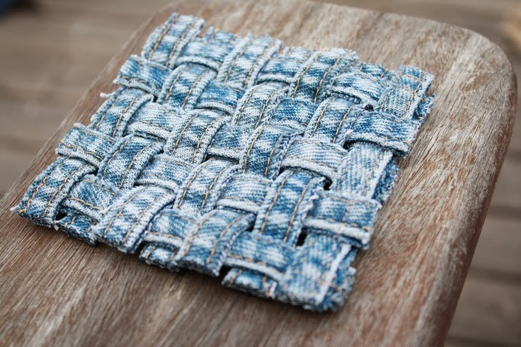 The art of up cycling march 2014 for Denim craft ideas