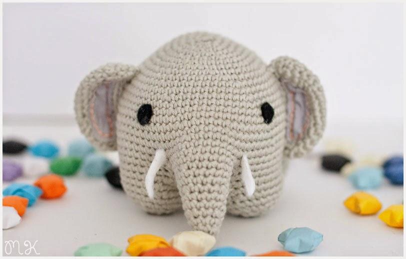 elefante amigurumi ganchillo
